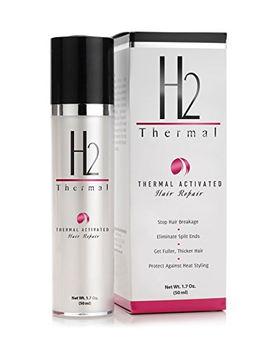 H2 Thermal Heat Activated Hair Repair Treatment -- Leave in Moisturizing Cream with Thermal Protection -- Conditioning Hair Mask to Heal Damage & Split Ends -- Safe For Color Treated Hair (50 ml) (Protection Formula Thermal)