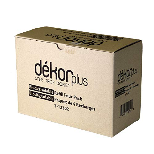Dekor Plus Diaper Pail Biodegradable Refills | 4 Count | Most Economical Refill System | Quick and Simple to Replace | No Preset Bag Size - Use Only What You - Refill Diaper Dekor