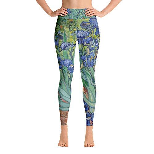 Irises, Vincent Van Gogh, Yoga Leggings White
