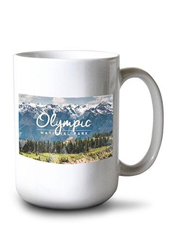 Lantern Press Olympic National Park, Washington - Hurricane Ridge Visitor Center (15oz White Ceramic Mug)