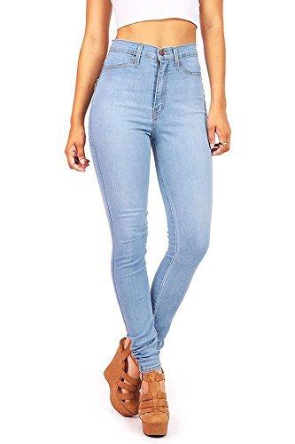 Vibrant Women's JuniorsClassic High Waist Skinny Jeans, 1, Light ()