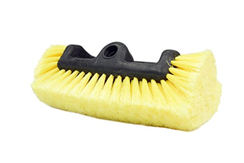 CARCAREZ Flow Thru Dip Car Wash Brush Head with Soft Bristle for Auto RV Truck Boat Camper Exterior Washing Cleaning, 10 ()