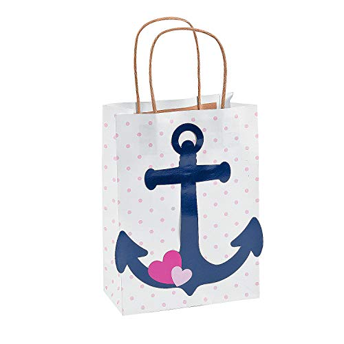 Fun Express Nautical Girl Craft Bags | 12 Count | Great for Themed Birthdays, Maritime/Seafaring Birthdays, Baby Showers, Prizes & -