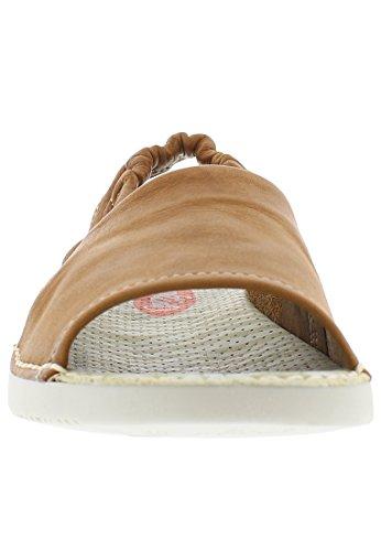 Softinos Damen Tee430sof Washed Slingback Sandalen Braun (Brown)
