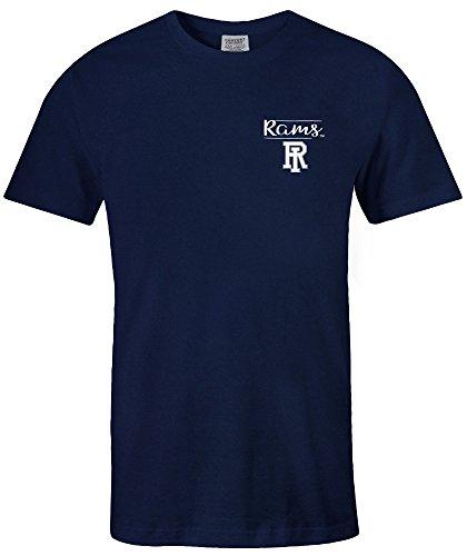 Image One NCAA Rhode Island Rams Adult Unisex NCAA Sketchbook Comfort Color Short sleeve T-Shirt, XX-Large,TrueNavy