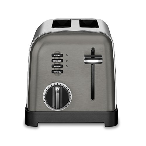 Cuisinart CPT-160BKS Metal Classic Toaster, 2-Slice, Black Stainless