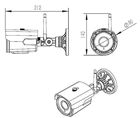 Amazon Com Hd 5mp Wifi Wireless Bullet Ip Camera 2 8 12mm 4x