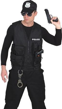 Orl Kinder Kostüm Polizei Weste Handschellen Karneval Fasching
