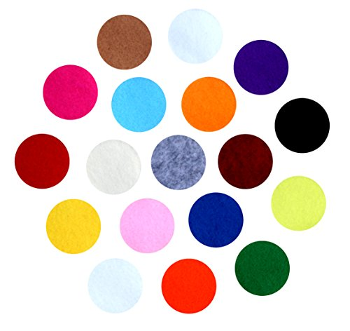 Flower Adhesive Felt - Assorted Adhesive Felt Circles; Package of 48 or 240 Wholesale, 1.5