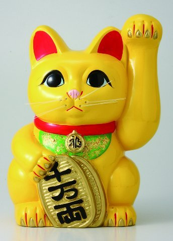 風水 手長小判猫 7号左手 招き猫 常滑焼 B00DRRRFLA 7号左手