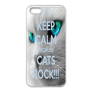 Because Cats Animal Cat Cartoon Retro Vintage Funny Patterned Hard Back Case Cover For Apple Iphone 5 5S Cases RVNLI_W471513