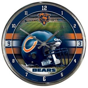Chicago Bears Round Chrome Wall Clock - Wincraft Chicago Bears Clock