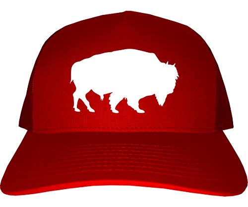 Buffalo Mens Trucker Hat Cap Red (Buffalo Bills Hats Red)