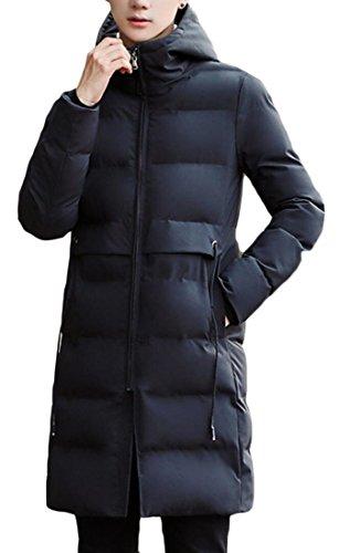 Generic Men's Fashion Thicken Puffer Hoodies Down Coats Jacket Black