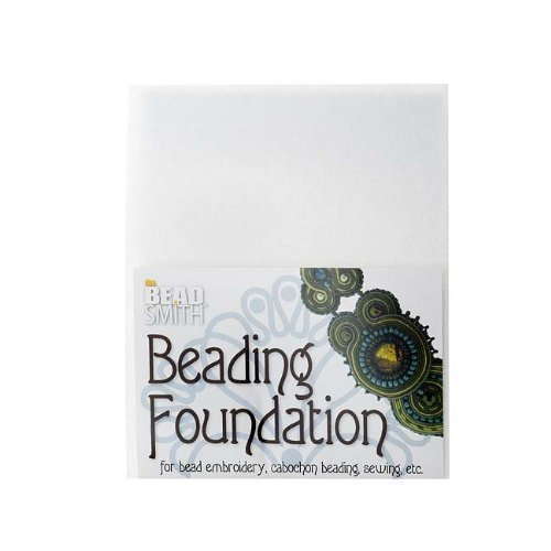 Beadsmith Beading Foundation for Embroidery White 8.5x11