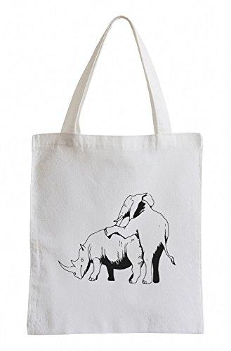 J.roxx Elefant Poppt Nashorn Jutebeutel