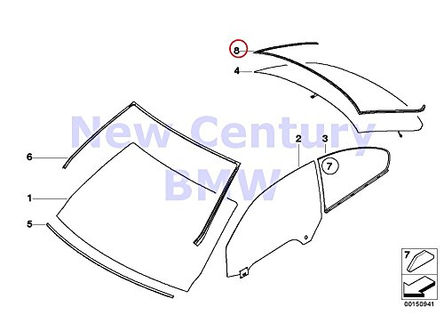 (Genuine BMW 3 Series E92 Coupe Rear Window Moulding Trim OEM 51317119713)