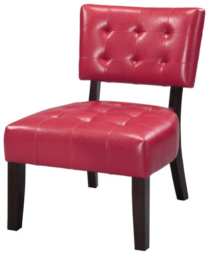 Amazon Com Crown Mark Beverly Accent Chair Red Finish