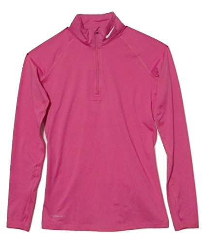 Nike Women's Stay Warm 1/4 Zip Fitted Mock Turtleneck (Small)