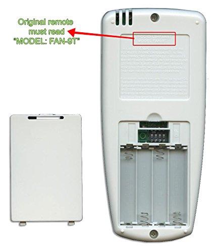 Anderic Replacement FAN-9T with REVERSE key Thermostatic Remote Control for Hampton Bay Ceiling Fans - FAN9T (FCC ID: L3HFAN9T, PN: FAN9TR, Works receiver FAN10R, FAN-10R) by Anderic (Image #2)