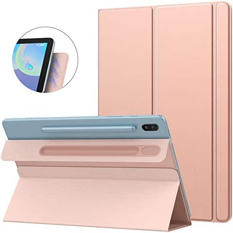 MoKo Smart Folio Case Fit Samsung Galaxy Tab S6 10.5 2019, Slim Lightweight Smart Shell Stand Cover, Strong Magnetic Adsorption with Auto Wake/Sleep for Galaxy Tab S6 10.5