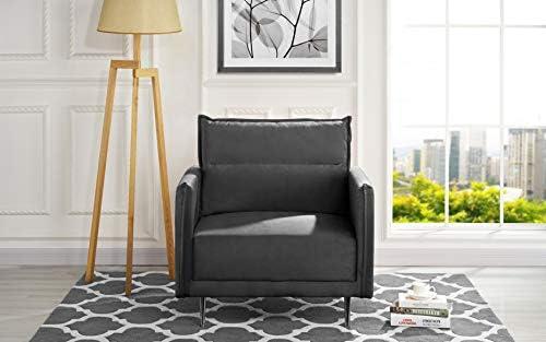 Casa Andrea Mid-Century Upholstered 35.4″ inch Velvet Armchair