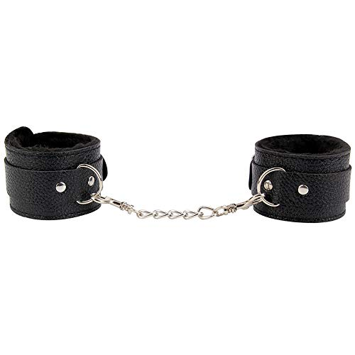 Unihoh Adjustable Soft Fur Leather Handcuffs Multifunctional Wrist and Ankle Cuff-Strong and Durable