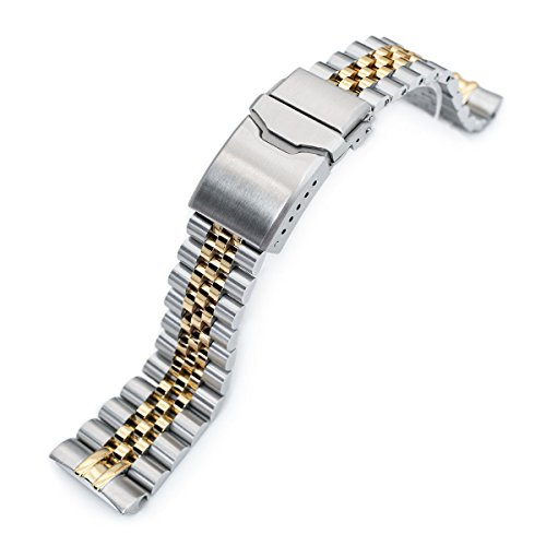 22mm Super 3D Jubilee Watch Bracelet for Seiko New Turtles SRP775, 2-Tone, Button Chamfer by Seiko Replacement by MiLTAT