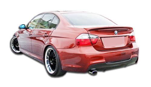 Duraflex Replacement for 2006-2011 BMW 3 Series E90 4DR M-Tech Rear Bumper Cover (single exhaust) - 1 Piece ()