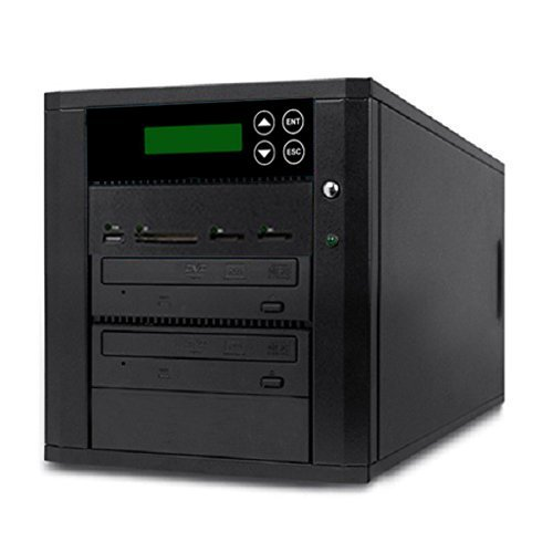 Image of Optical Drives Acumen Disc DV-901-SSP Flash Memory Drive to Media Disc Duplicator with 1-1 Target DVD/CD Burners (with MS, CF, SD, MMC, USB Slots)