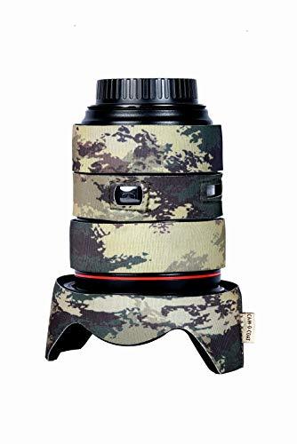 Coat for Canon EF 24-105 mm f/4 L is USM Zoom Lens (Mottled Wood Green)