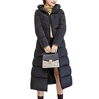 BOZEVON Women Winter Coat - Long Hooded Padded Puffer