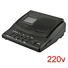 Gulin Mini Digital Telephone Voice Recorder Phone Call Monitor Logger with LCD Display Support SD Card