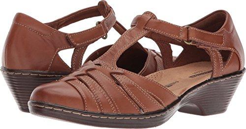 Clarks Women's Wendy Alto Fisherman Sandal, Tan Leather, 5.5 Medium US