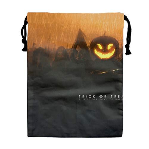 Large Size Halloween Pumpkin Drawstring Bag, Party Favor Bag, Overnight Bag]()