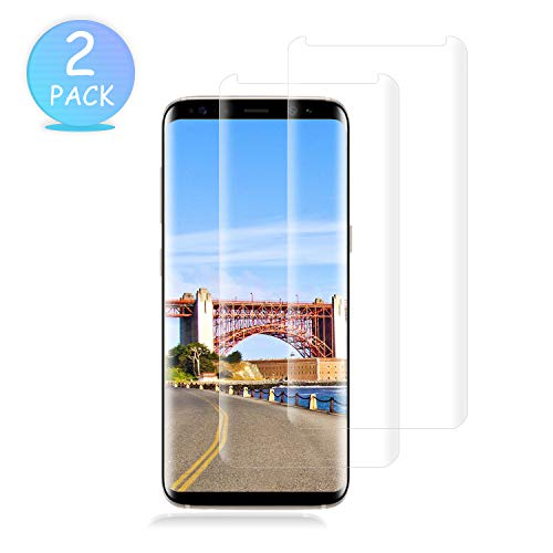 [2-Pack] Galaxy S8 Plus Screen Protector,Tempered Glass Screen Protector with [9H Hardness][Easy Bubble-Free Installation][Anti-Scratch] Compatible with Samsung Galaxy S8 Plus.