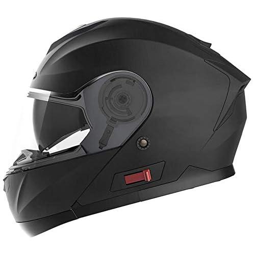 chollos oferta descuentos barato Casco Moto Modular ECE Homologado YEMA YM 926 Casco de Moto Integral Scooter para Mujer Hombre Adultos con Doble Visera Negro Mate XL