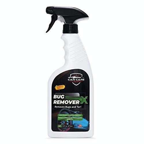 Car Care Haven Bug Remover X – Tar, Goo, Road Grime, Tree Sap, Bird Poop, Cleaner for Vehicles – Windshields, Mirrors, Grills & Hood – Bugs Removal Spray for Cars, Motorcycle, Boat, Truck & Campers
