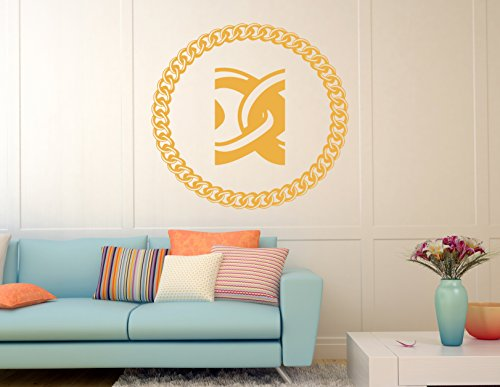 Gold Gold Chain Weaving Kids Room Children Stylish Wall Art Sticker Decal G8629