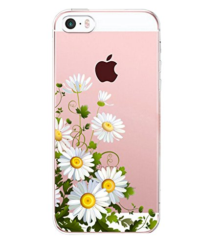 iPhone 5/5s/SE Case TPU Silicone Rubber Cute Anti-Scratch Slim Ultra Protective Clear Shock-Absorption Bumper Soft Amusing Design for Apple i Phone5 Cover (Color7, iPhone 5/5s/SE)