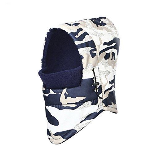 Halloween Costumes 03 Months (2017 New Winter Warm Beanies Camouflage Double Layer Balaclava Men military bike Face Mask Thermal Fleece Balaclava Wind Winter wind-proof Beanies 03)