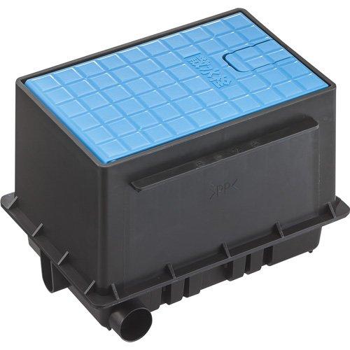 SANEI 屋外水栓 散水栓ボックスセット 散水栓付 フタ(青) R81-92S-B B071KK4KJV