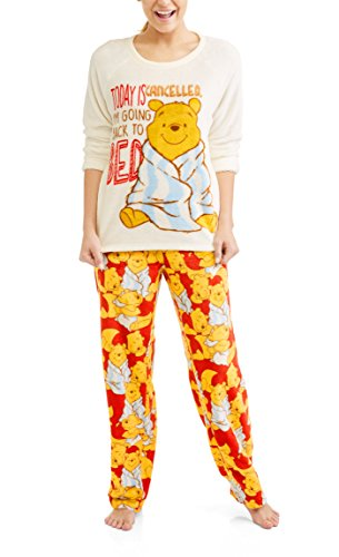 Richard Leeds International Disney Women's Winnie The Pooh Plush Minky 2 Piece Pajama Set (2XL 18W/20W)