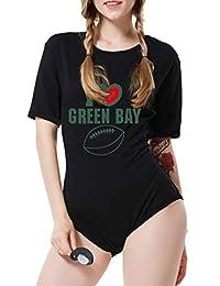 Childlike Me Adult Baby Onesie ABDL Onesie Football Bodysuit,I Love Green Bay
