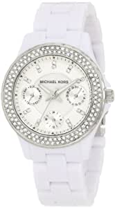 Michael Kors Quartz Acrylic Mini Madison Glitz White Dial Women's Watch MK5458