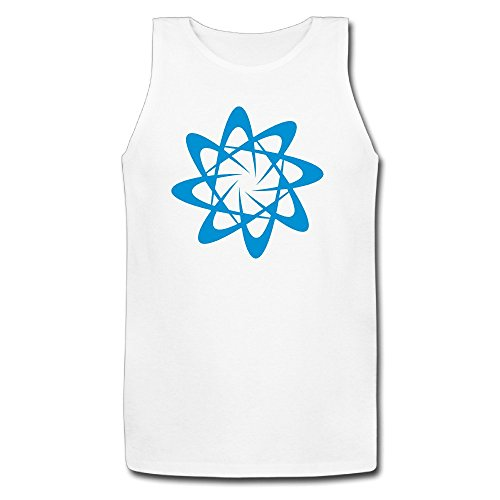 Men Atomic Particle Style Shape With Atoms Cool Cotton Tank Top