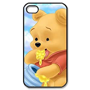 Winnie the Pooh Personalized Hard Plastic Back Protective Case for iPhone 4S/4