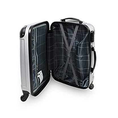 Set de 3 maletas Trolley, Maletas sólidas con ruedas – plata