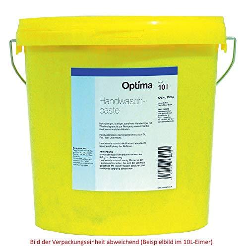 Handwaschpaste Optima 775 ml • Hochwertiger, kräftiger Handreiniger zum Lösen von starken Verschmutzungen • Enthält Weichholzgranulat und Kunststoffreibekörper