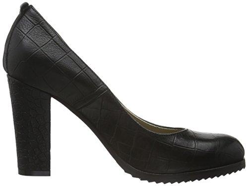 Nabla Cerrados Zapatos Mujer De Antwerp Tacón Negro Piel Noe qx5Z1Xv1w